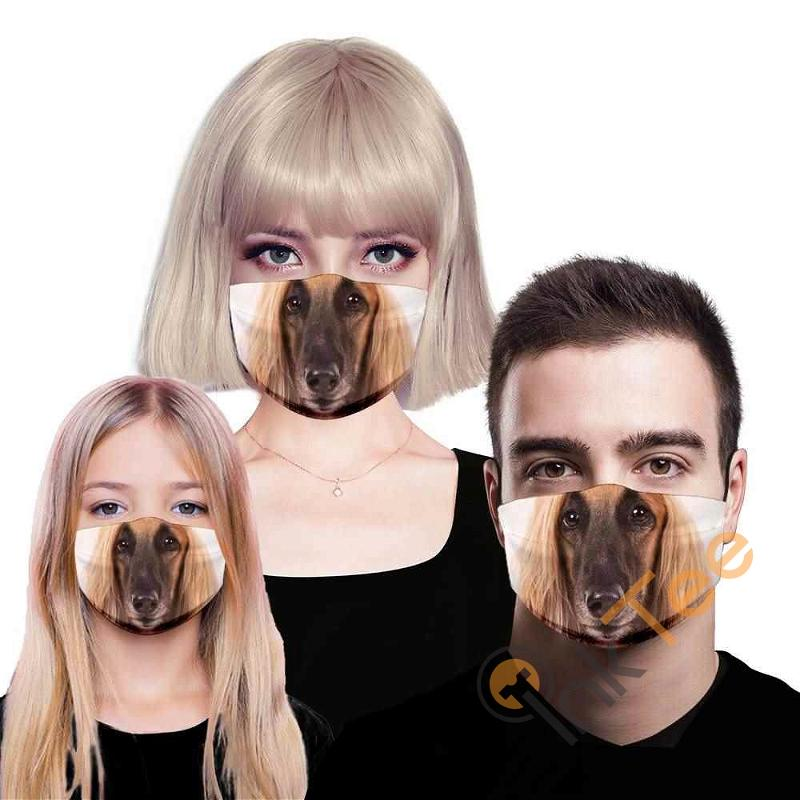 Afghan Hound 3d Sku 142 Amazon Best Selling Face Mask