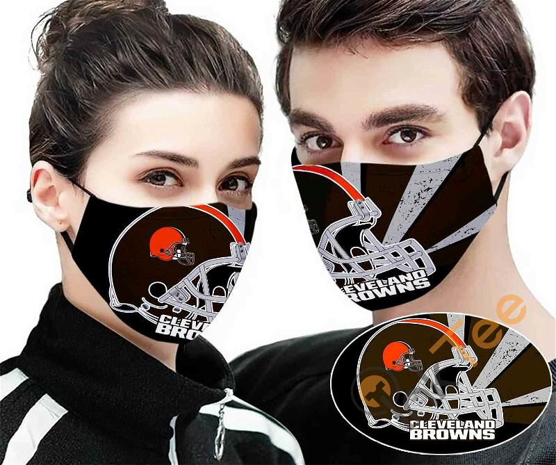 Cleveland Browns 3d Sku 2324 Amazon Best Selling Face Mask