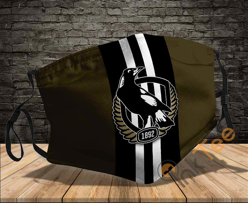 Collingwood Magpies Sku 1684 Amazon Best Selling Face Mask
