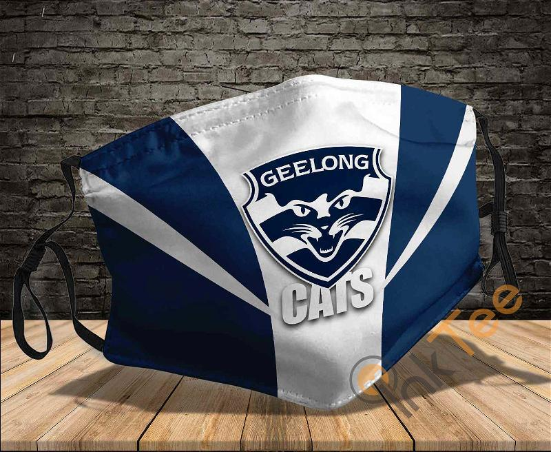 Geelong Cats Sku 1558 Amazon Best Selling Face Mask
