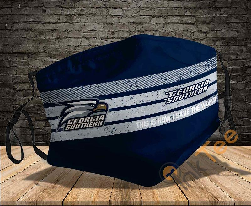 Georgia Southern Eagles Save The World Sku 838 Amazon Best Selling Face Mask