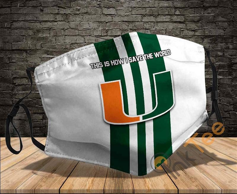 Miami Hurricanes Save The World Sku 1177 Amazon Best Selling Face Mask