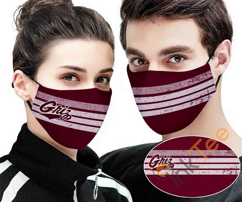 Montana Grizzlies Colour Sku 12 Amazon Best Selling Face Mask