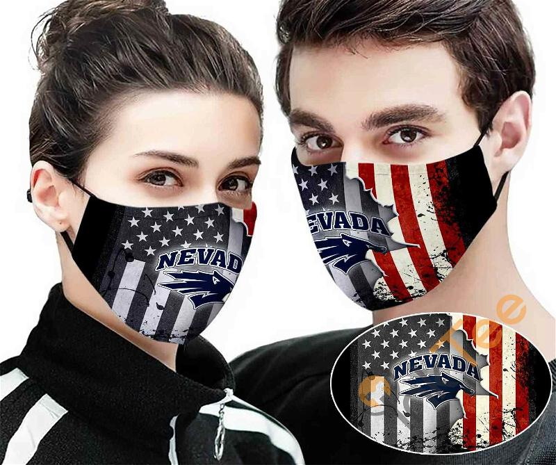 Nevada Wolf Pack Sku 54 Amazon Best Selling Face Mask