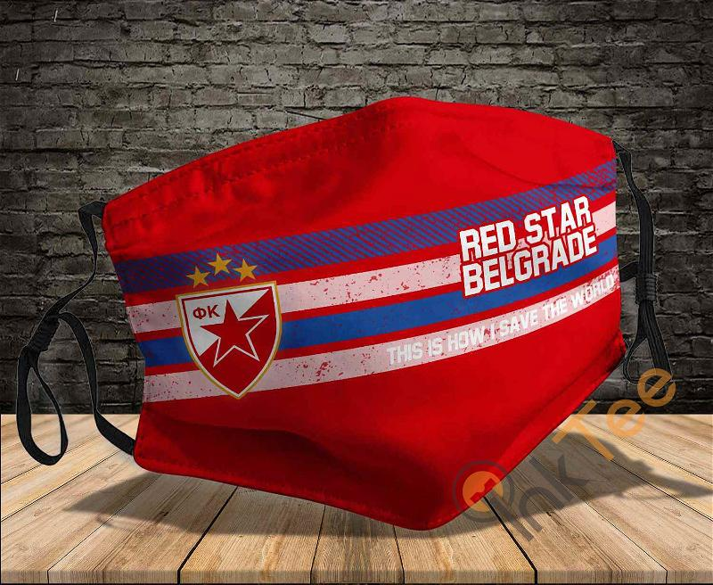 Red Star Belgrade This Is How I Save The World Sku 1431 Amazon Best Selling Face Mask