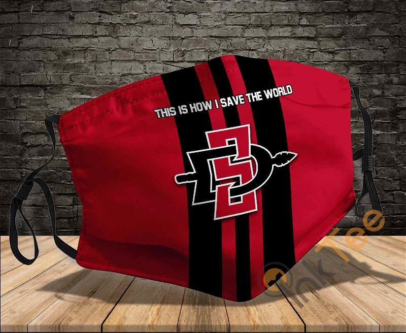 San Diego State Aztecs Save The World Sku 1146 Amazon Best Selling Face Mask