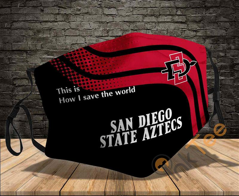 San Diego State Aztecs Save The World Sku 932 Amazon Best Selling Face Mask
