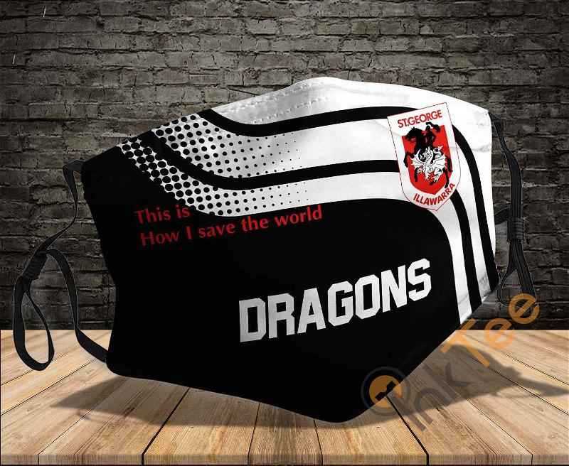 St George Illawarra Dragons Save The World Sku 921 Amazon Best Selling Face Mask