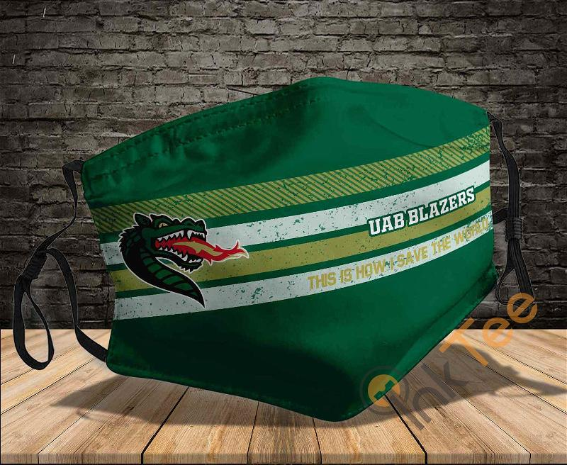Uab Blazers Save The World Sku 761 Amazon Best Selling Face Mask