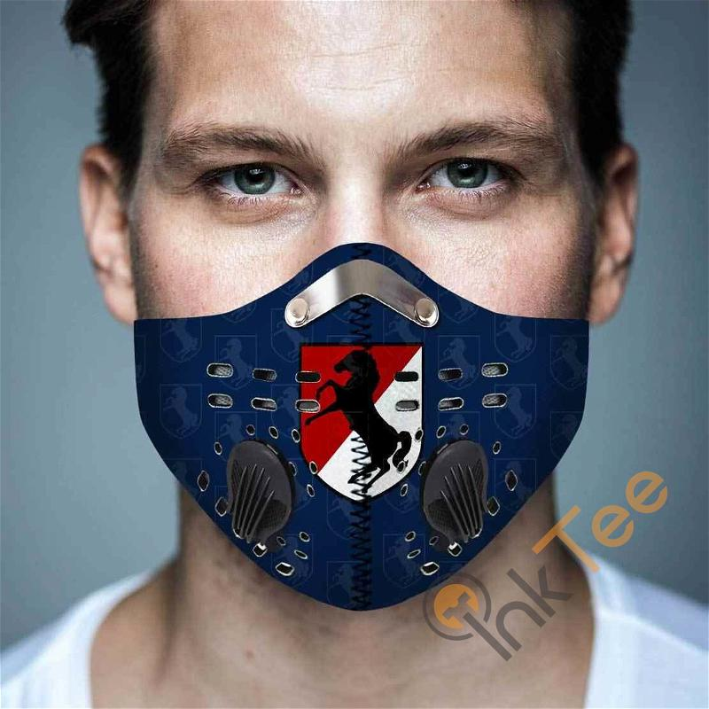 11th Armored Cavalry Regiment Filter Activated Carbon Pm 2.5 Fm Sku 3621 Face Mask