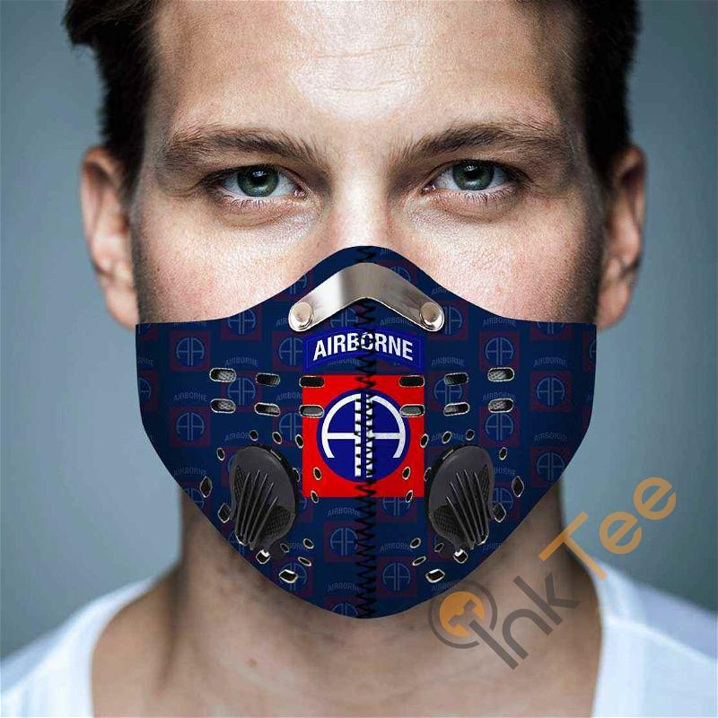 82nd Airborne Division Filter Activated Carbon Pm 2.5 Fm Sku 3622 Face Mask