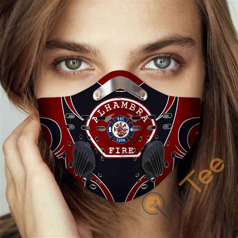 Alhambra-fire-department-(california) Filter Activated Carbon Pm 2.5 Fm Sku 3452 Face Mask