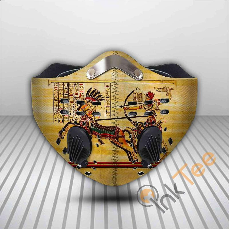 Ancient Egyptian Filter Activated Carbon Pm 2.5 Fm Sku 3559 Face Mask