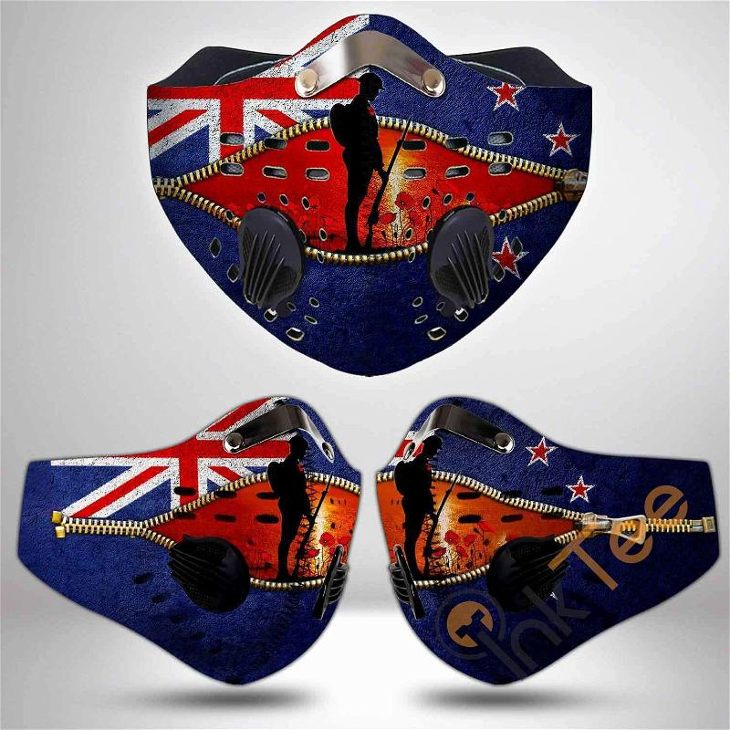 Anzac Day Filter Activated Carbon Pm 2.5 Fm Sku 3483 Face Mask