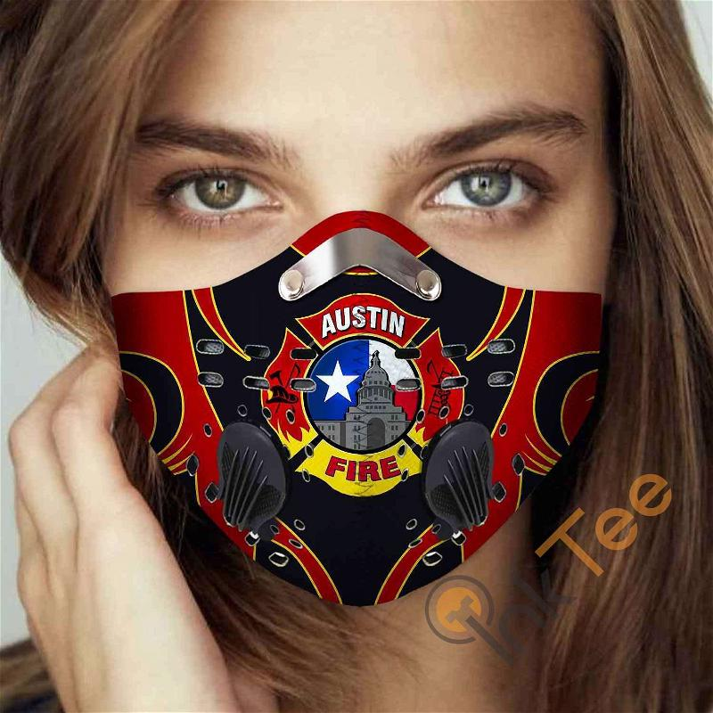 Austin-fire-department-(texas) Filter Activated Carbon Pm 2.5 Fm Sku 3454 Face Mask