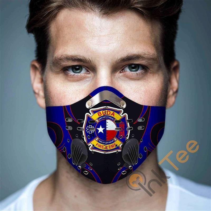 Buda-fire-department-(texas) Filter Activated Carbon Pm 2.5 Fm Sku 3460 Face Mask