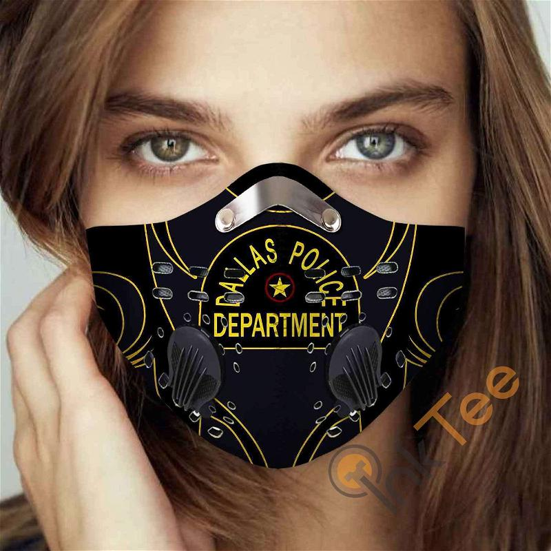 Dallas Police Department Filter Activated Carbon Pm 2.5 Fm Sku 3462 Face Mask