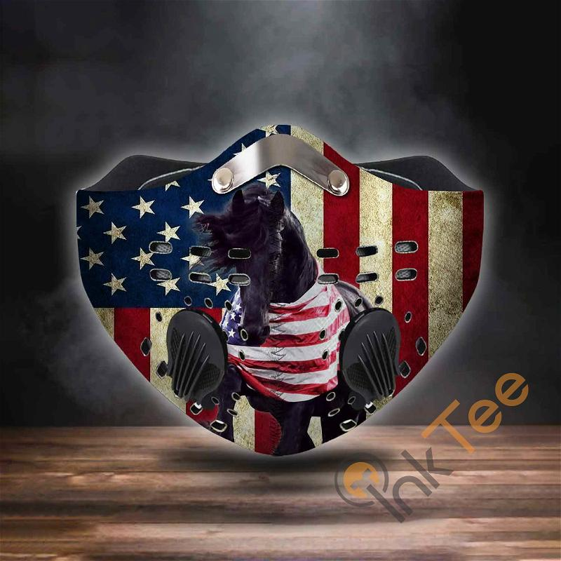 Friesian Horse Independence Day Filter Activated Carbon Pm 2.5 Fm Sku 3568 Face Mask