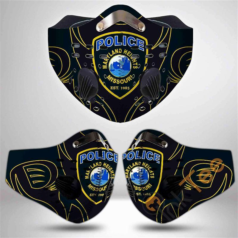 Maryland State Police Filter Activated Carbon Pm 2.5 Fm Sku 3467 Face Mask