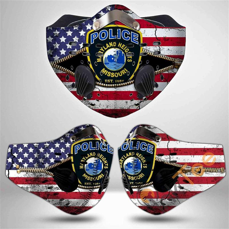Maryland State Police Filter Activated Carbon Pm 2.5 Fm Sku 3491 Face Mask