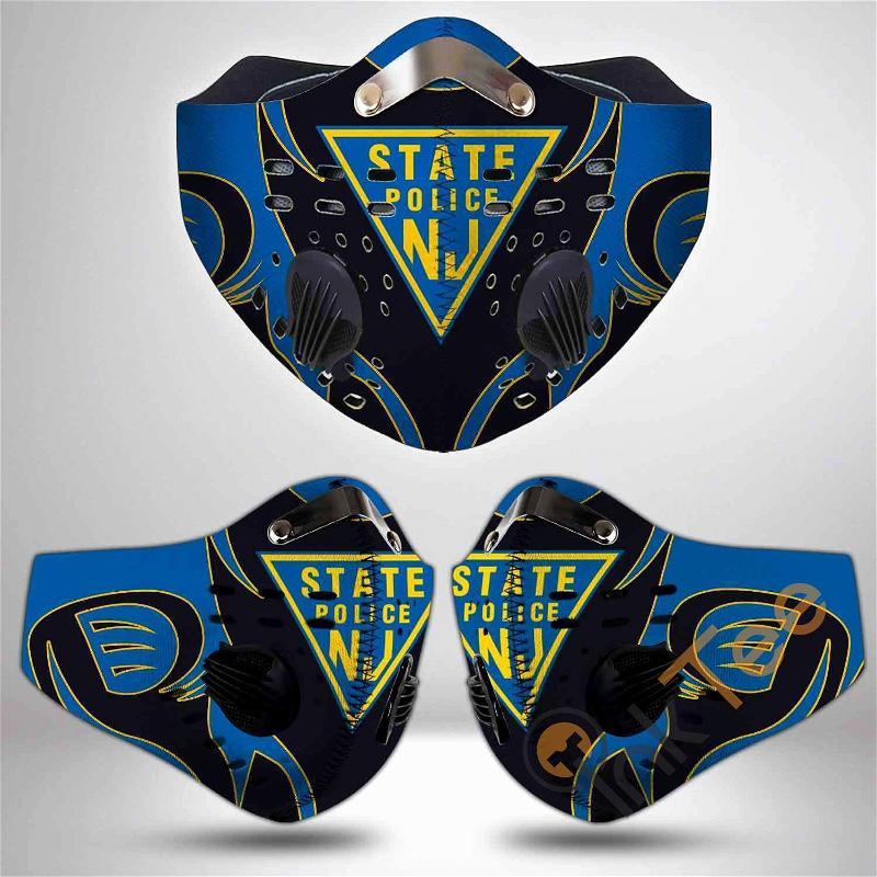 New Jersey State Police Filter Activated Carbon Pm 2.5 Fm Sku 3471 Face Mask
