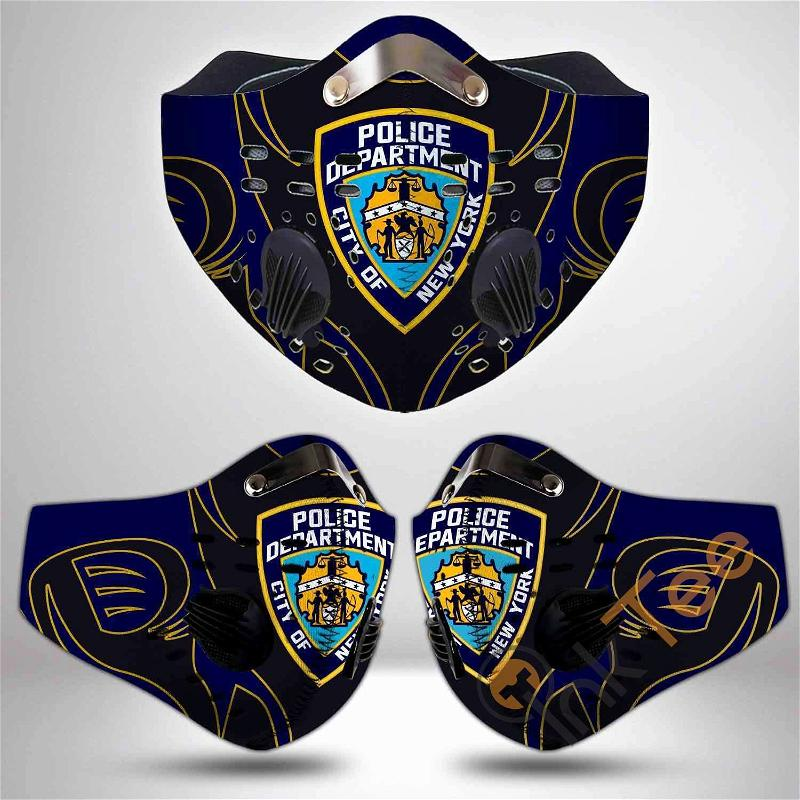 New York City Police Department Filter Activated Carbon Pm 2.5 Fm Sku 3469 Face Mask
