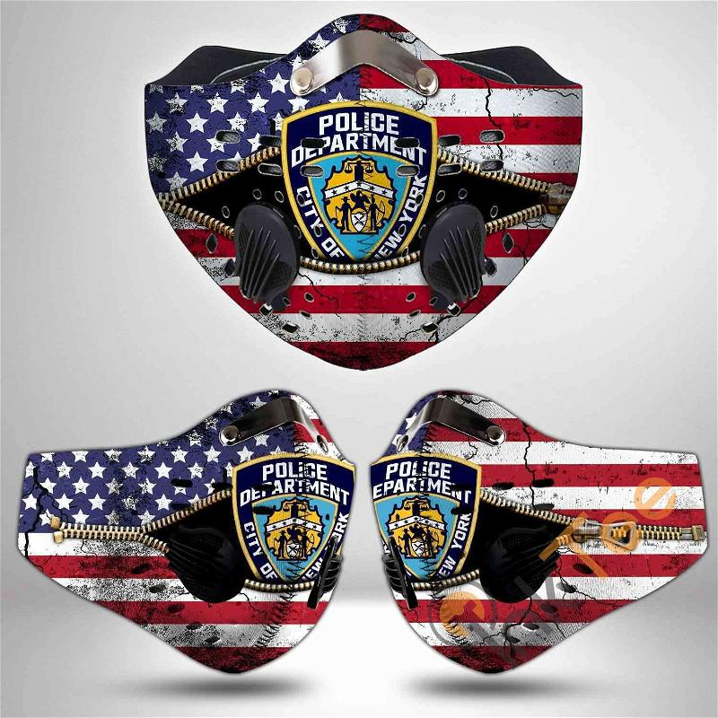 New York City Police Department Filter Activated Carbon Pm 2.5 Fm Sku 3493 Face Mask