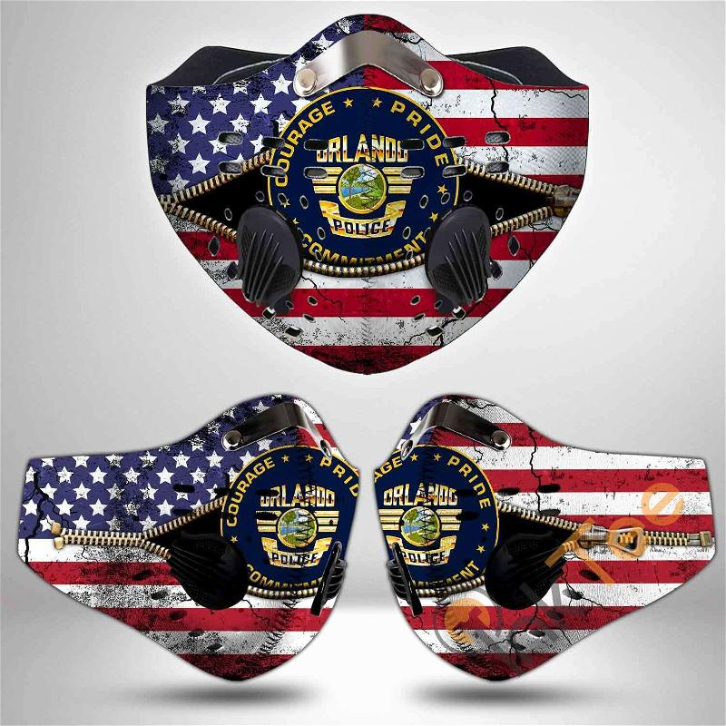 Orlando Police Department Filter Activated Carbon Pm 2.5 Fm Sku 3485 Face Mask