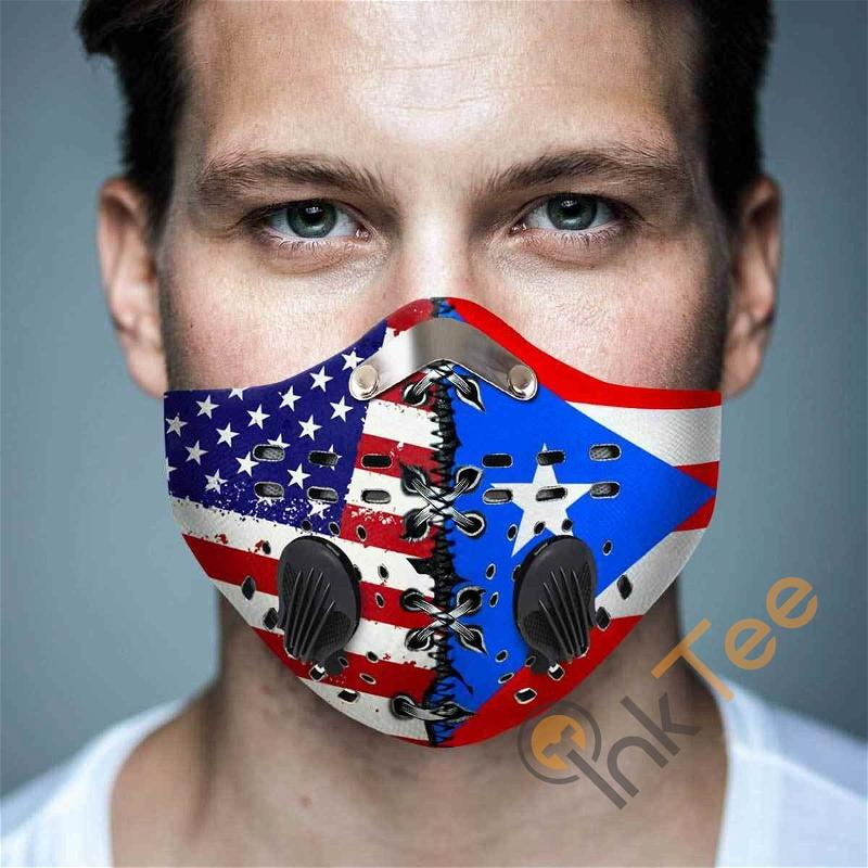 Puerto Rico Filter Activated Carbon Pm 2.5 Fm Sku 1515 Face Mask