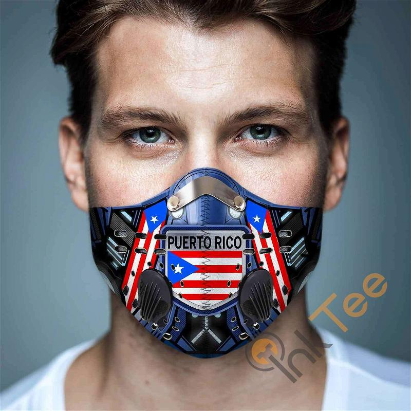 Puerto-rico Filter Activated Carbon Pm 2.5 Fm Sku 3444 Face Mask