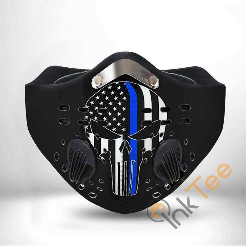 Thin Blue Line Police Filter Activated Carbon Pm 2.5 Fm Sku 1299 Face Mask