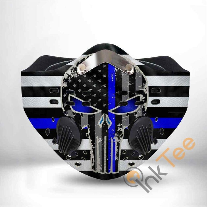 Thin Blue Line Police Filter Activated Carbon Pm 2.5 Fm Sku 1300 Face Mask