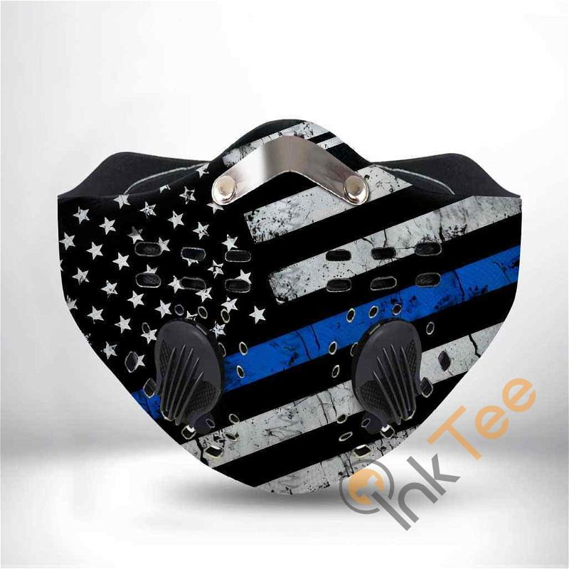 Thin Blue Line Police Filter Activated Carbon Pm 2.5 Fm Sku 1301 Face Mask
