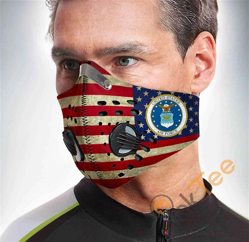 U.s Air Force Filter Activated Carbon Pm 2.5 Fm Sku 1555 Face Mask