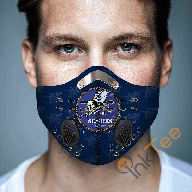 Us Navy Seabee Filter Activated Carbon Pm 2.5 Fm Sku 3623 Face Mask