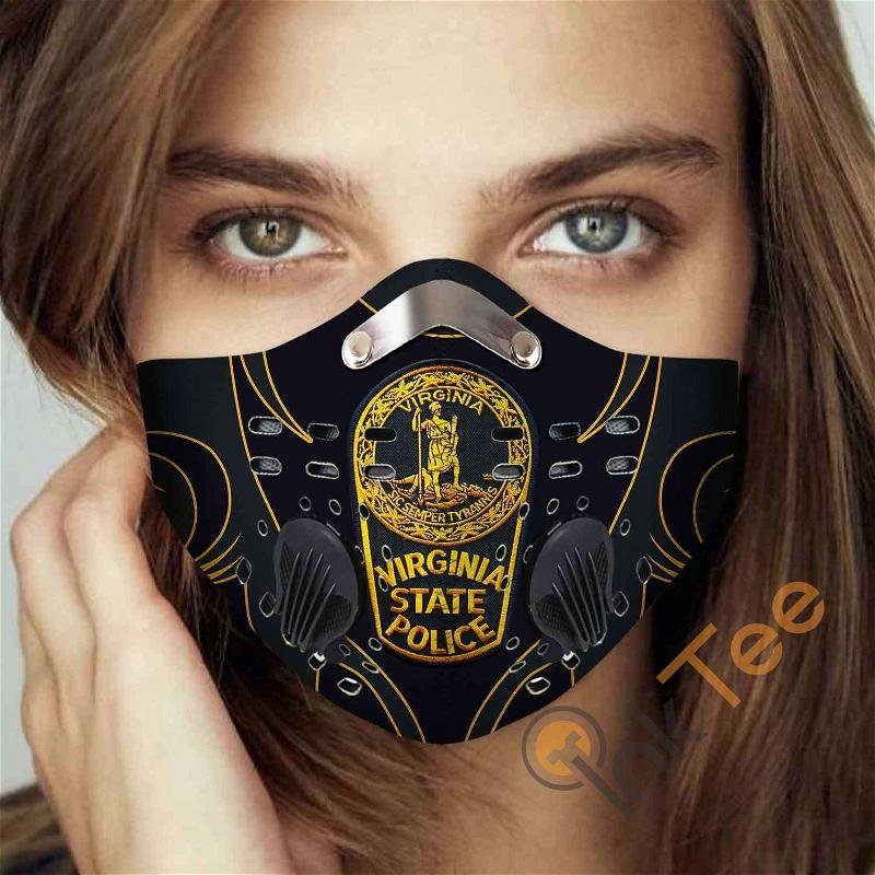 Virginia State Police Filter Activated Carbon Pm 2.5 Fm Sku 3464 Face Mask