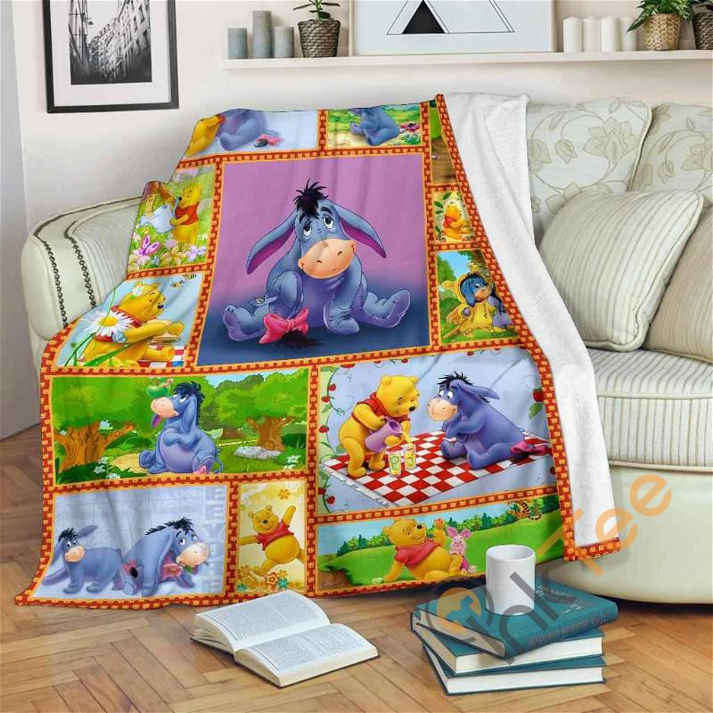 Blanket Cute Pooh & Eeyore Fleece Blanket