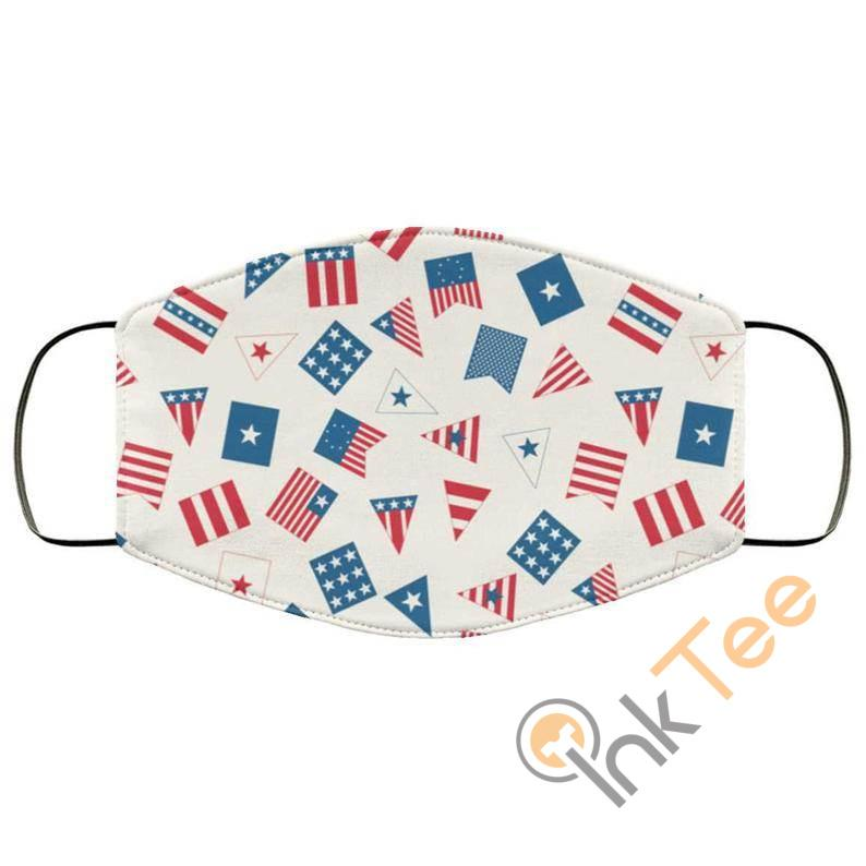 4th Of July Part Usa Flagelastic Reusable And Washable Face Mask