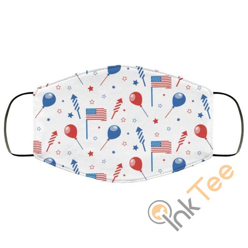 4th Of July Patriotic Patternelastic Reusable And Washable Face Mask