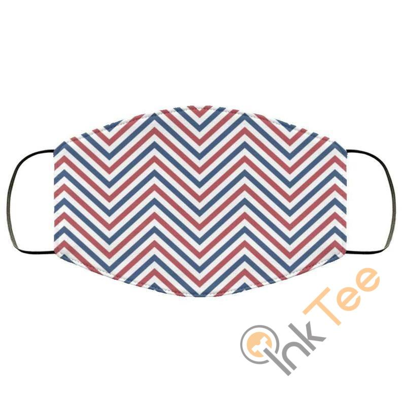 4th Of July Stripes Patriotic Patternelastic Reusable And Washable Face Mask