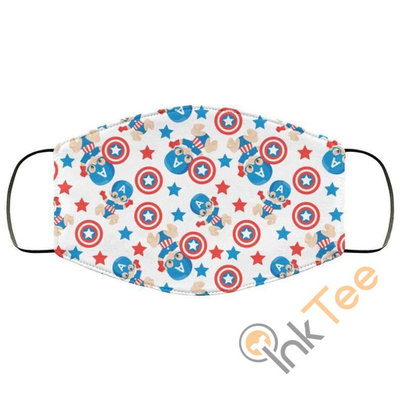 Baby Captain America Super Hero Reusable Washable Face Mask