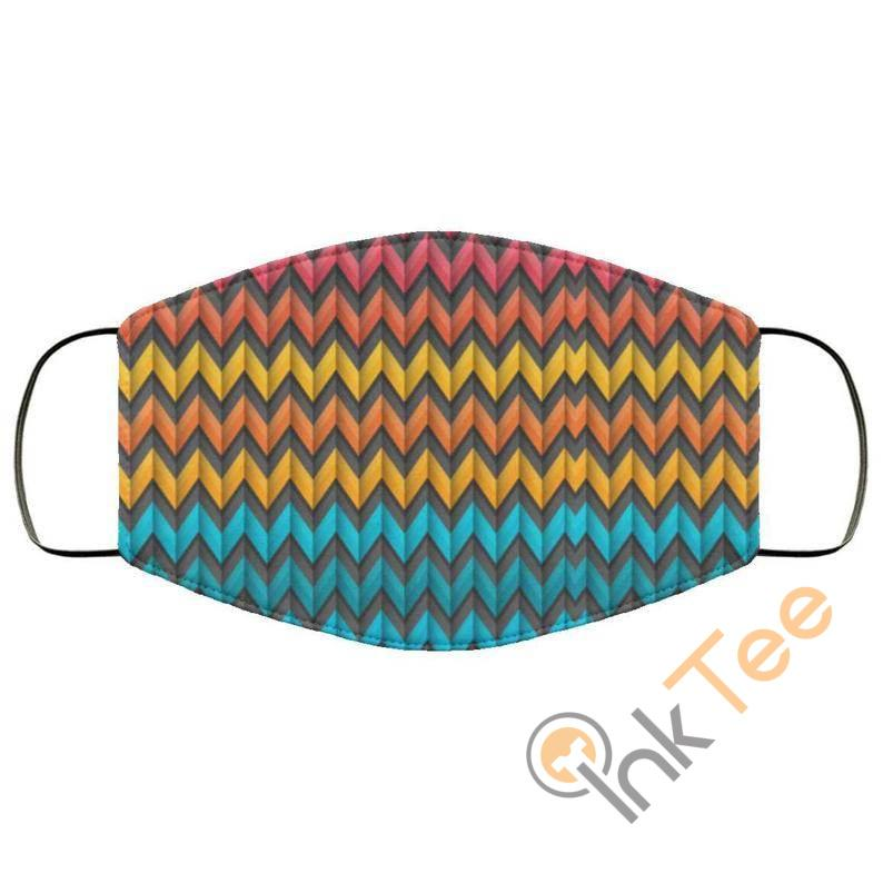 Colored Waves Reusable Washable Face Mask