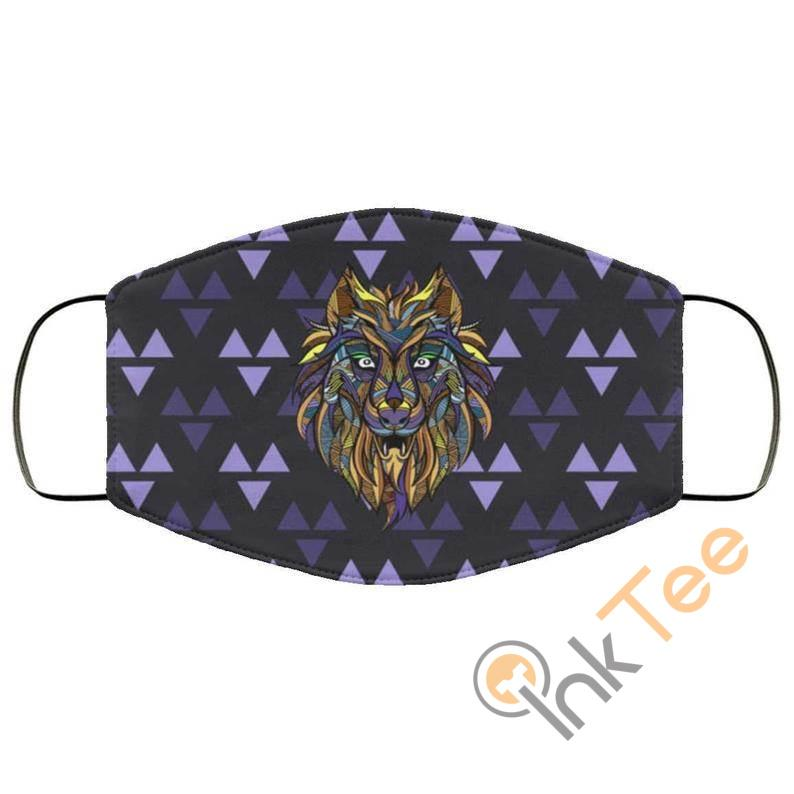 Cool Wolf Image Reusable Face Mask