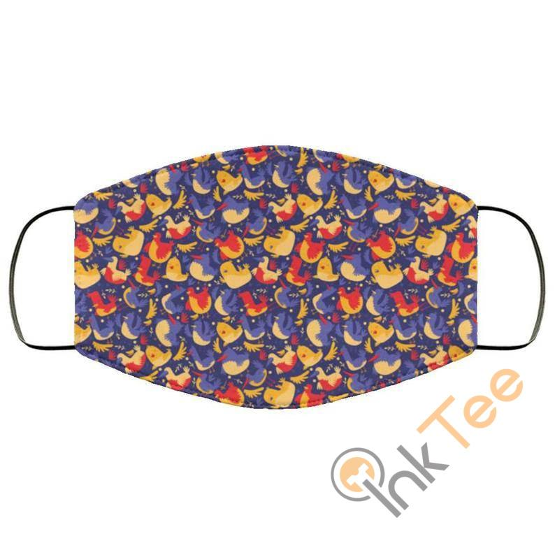 Cute Chicken And Hens Reusable Washable Face Mask