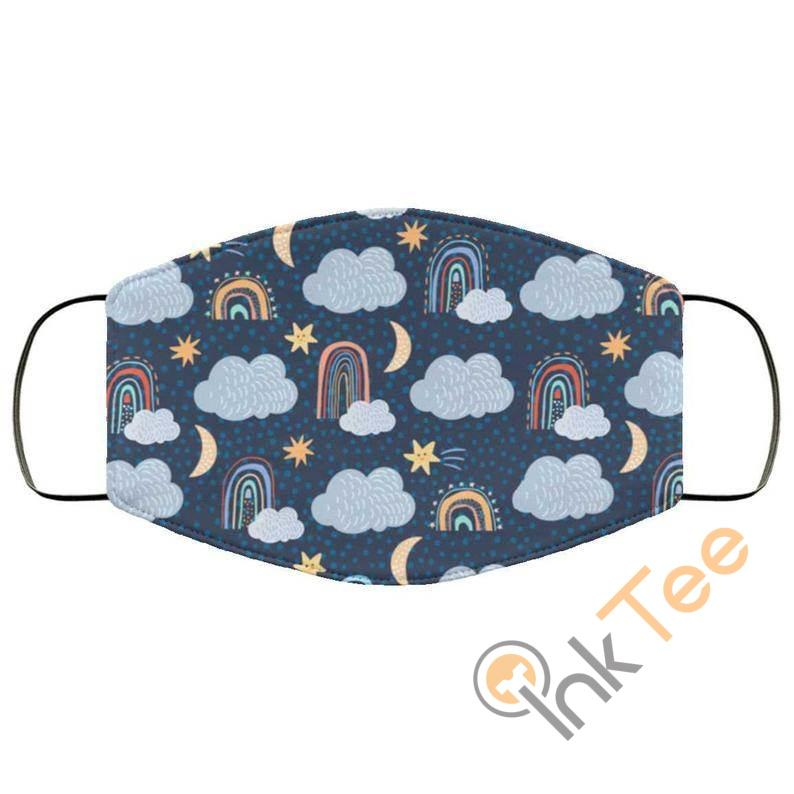 Cute Clouds And Rainbows Reusable Washable Face Mask