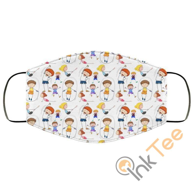 Cute Kids Playing Reusable Washable Face Mask