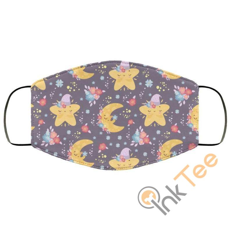 Cute Stars And Moon's Reusable Washable Face Mask
