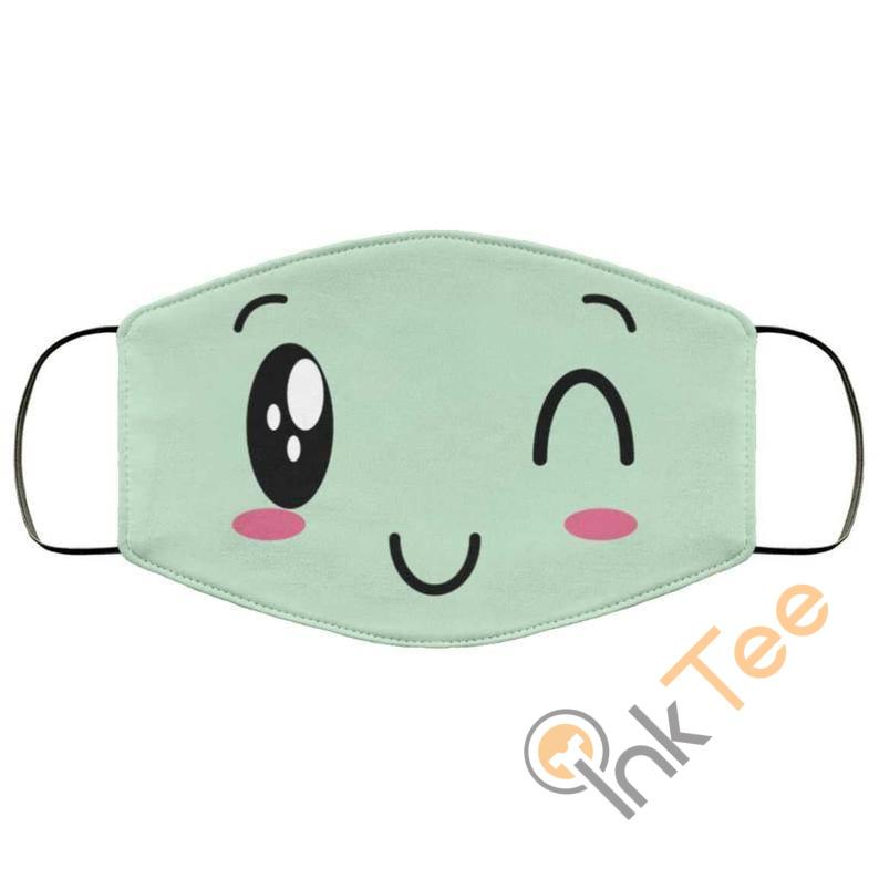Cute Winking Reusable Washable Face Mask