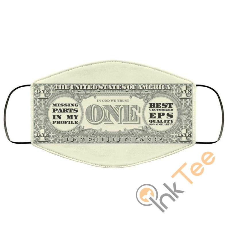 Dollar Bill Money Patternelastic Reusable And Washable Face Mask