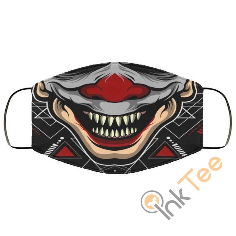 Evil Clown Smiling Teeth Reusable And Washable Face Mask